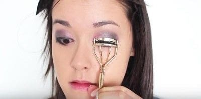 How to create an eye makeup look. Pink Goth Grunge Makeup Tutorial - Step 16