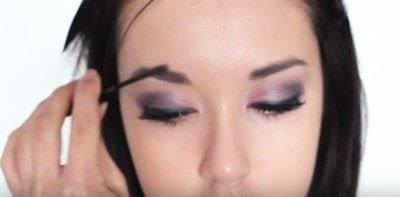 How to create an eye makeup look. Pink Goth Grunge Makeup Tutorial - Step 21