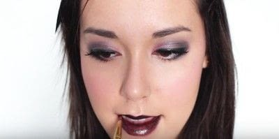 How to create an eye makeup look. Pink Goth Grunge Makeup Tutorial - Step 26