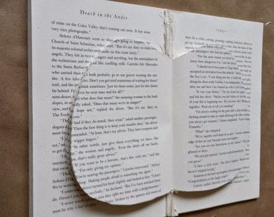 How to make a piece of book art. Fall Book Pumpkin - Step 6