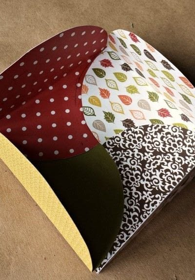 How to make an envelope. Scrapbook Paper Gift Envelopes - Step 7
