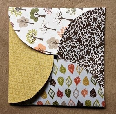 How to make an envelope. Scrapbook Paper Gift Envelopes - Step 8