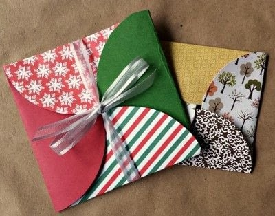 How to make an envelope. Scrapbook Paper Gift Envelopes - Step 10
