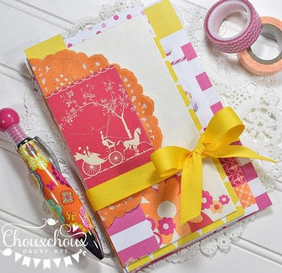 How to decorate an altered journal. Washi Tape Bound Journal - Step 1