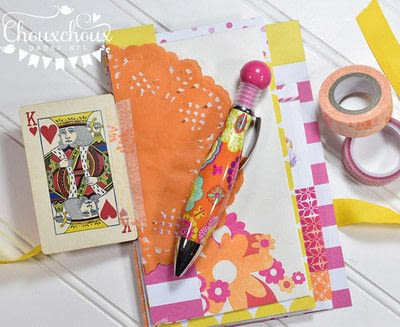 How to decorate an altered journal. Washi Tape Bound Journal - Step 2