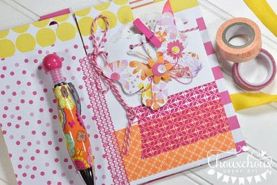 How to decorate an altered journal. Washi Tape Bound Journal - Step 4
