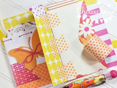 How to decorate an altered journal. Washi Tape Bound Journal - Step 5