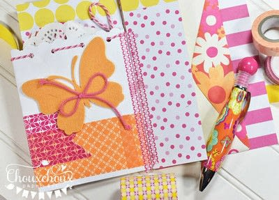 How to decorate an altered journal. Washi Tape Bound Journal - Step 6