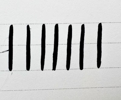How to draw a piece of calligraphy. Getting Started With Modern Calligraphy {The Basics} - Step 8