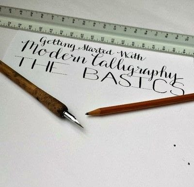 How to draw a piece of calligraphy. Getting Started With Modern Calligraphy {The Basics} - Step 12