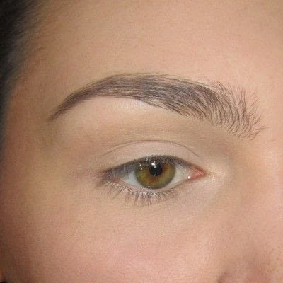 How to makeover an eyebrow. Turquoise/Teal Colored Brows - Step 1