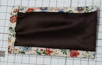 How to sew a fabric pouch. Mobile Phone Pouch - Step 3
