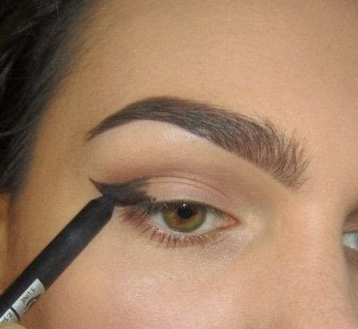 How to create a cat eye. Golden Cateye - Step 2