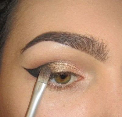 How to create a cat eye. Golden Cateye - Step 3