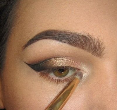 How to create a cat eye. Golden Cateye - Step 4