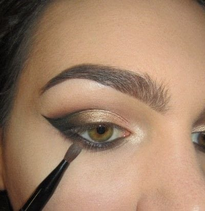 How to create a cat eye. Golden Cateye - Step 5