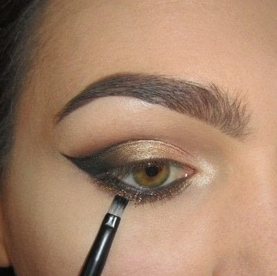 How to create a cat eye. Golden Cateye - Step 6