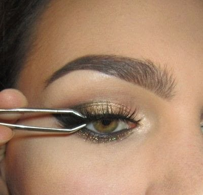 How to create a cat eye. Golden Cateye - Step 7
