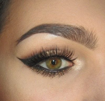 How to create a cat eye. Golden Cateye - Step 8