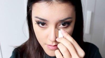 How to create a tan or contour makeup. Simple Face Contour - Step 1