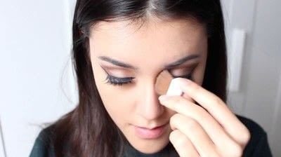 How to create a tan or contour makeup. Simple Face Contour - Step 3