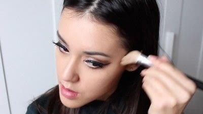 How to create a tan or contour makeup. Simple Face Contour - Step 5