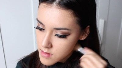 How to create a tan or contour makeup. Simple Face Contour - Step 6