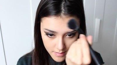 How to create a tan or contour makeup. Simple Face Contour - Step 9