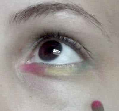 How to create a rainbow eye makeup. Candy Girl - Step 7