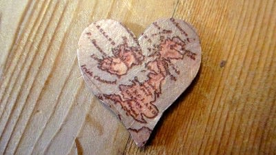 How to make a wooden brooch. Decoupage Travel Brooch with Trimcraft Deco Maché - Step 6