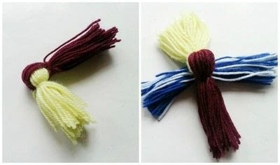 How to make a decoration. Diy Cute Yarn Bird - Step 3
