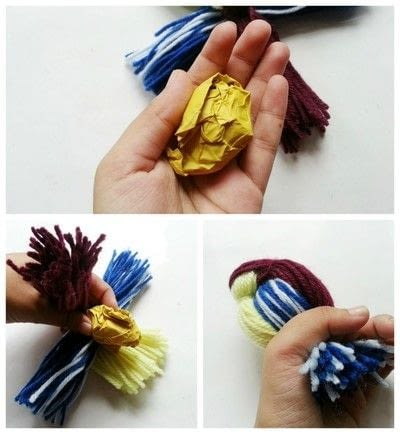 How to make a decoration. Diy Cute Yarn Bird - Step 4