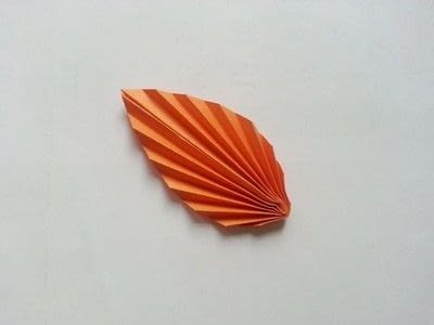 How to make a paper model. Diy Fun Paper Leaf - Step 6