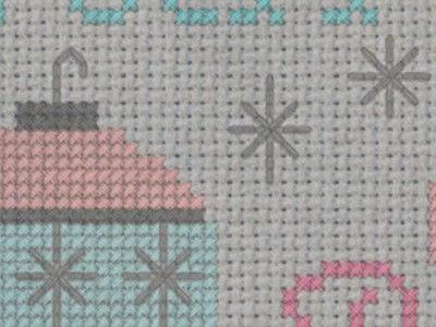 How to cross stitch . Retro Christmas Ornament Cross Stitch Pattern - Step 5
