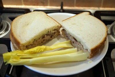 How to cook a sandwich. Smoked Mackerel Sandwich Filler  - Step 3