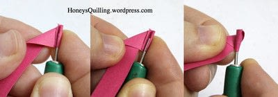 How to fold a piece of quilled art. Paper Quilling Roses - Step 2