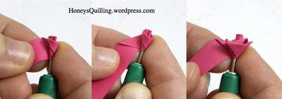 How to fold a piece of quilled art. Paper Quilling Roses - Step 3