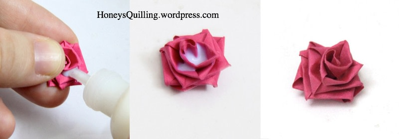 Paper Quilling Roses How To Fold A Piece Of Quilled Art
