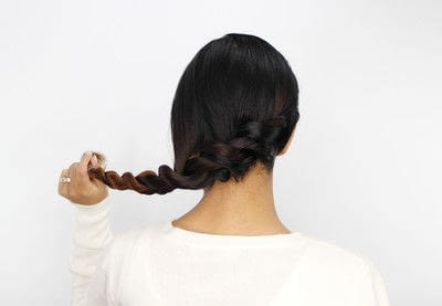How to style a braided bun. Rope Braid Bun - Step 4