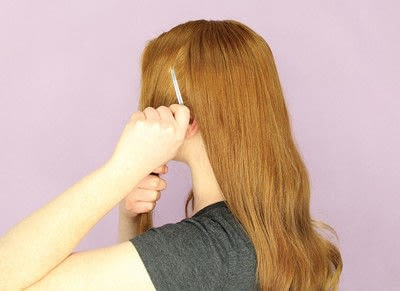 How to style a chignon. Twist Wrap Chignon - Step 1
