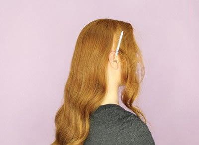 How to style a chignon. Twist Wrap Chignon - Step 2
