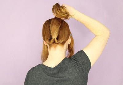How to style a chignon. Twist Wrap Chignon - Step 4