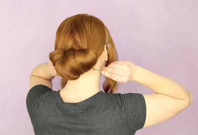 How to style a chignon. Twist Wrap Chignon - Step 8