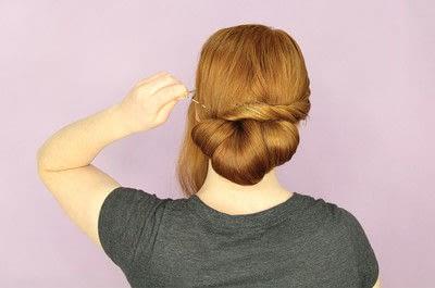How to style a chignon. Twist Wrap Chignon - Step 10