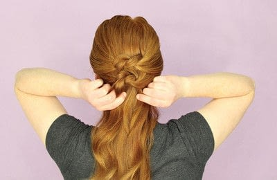 How to style an updo hairstyle. Knotted Updo - Step 3