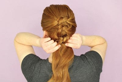 How to style an updo hairstyle. Knotted Updo - Step 4