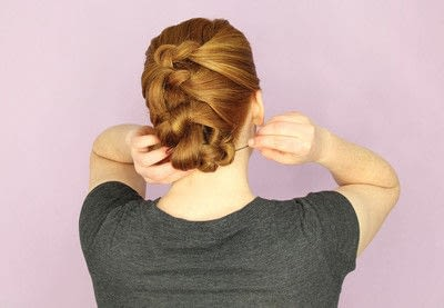 How to style an updo hairstyle. Knotted Updo - Step 6