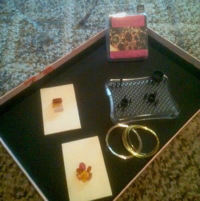 How to make a gemstone ring. Amalgam Rings With Nunn Designs Crystal Clay - Step 1