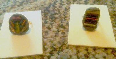How to make a gemstone ring. Amalgam Rings With Nunn Designs Crystal Clay - Step 12
