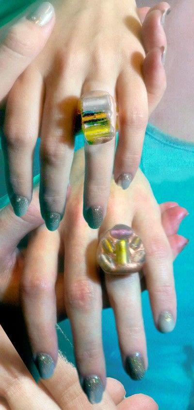 How to make a gemstone ring. Amalgam Rings With Nunn Designs Crystal Clay - Step 13